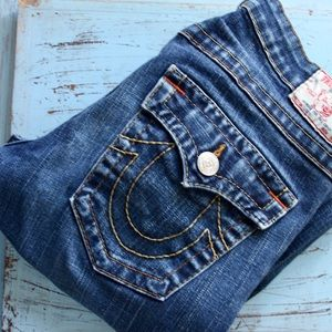 True Religion Joey Bootcut Flare Blue Jeans